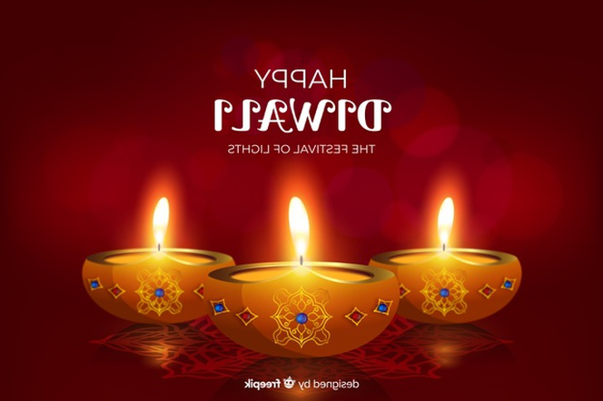 Realistic diwali festival background with candles