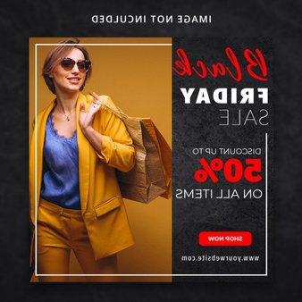 black friday fashion sale social media template