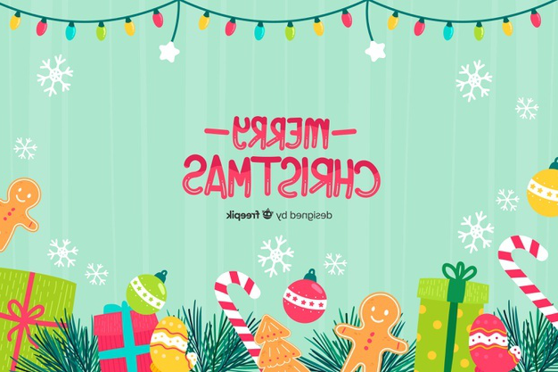 Hand drawn christmas background with christmas elements