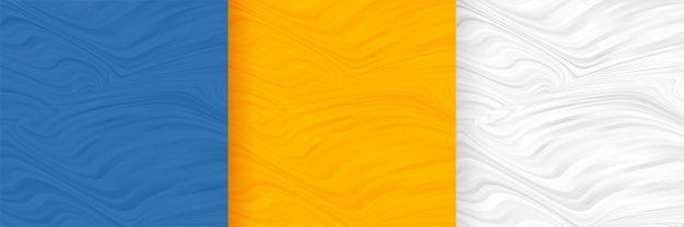 Abstract wavy shape pattern blank background set